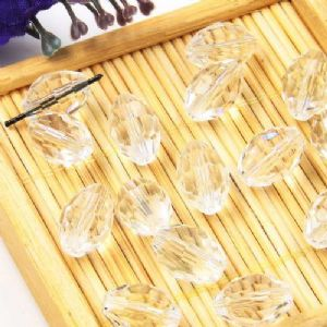 Beads, Auralescent Crystal, Crystal, Clear colour , Faceted Oval, 8mm x 8mm x 12mm, 1 bead [Sold Individually], [ZZC253]